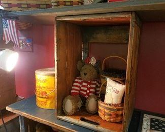 bears, baskets and tins
