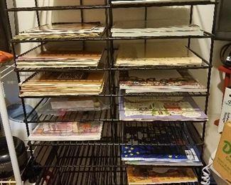 scrapbooking shelves