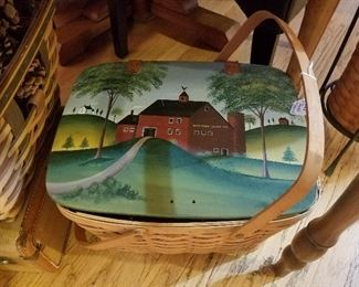 handpainted basket