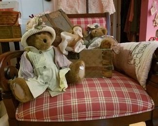 accent chair and bears