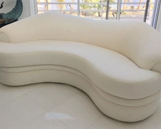 Fabulous Post Modern Sofa by Susie's Key West Estate Sales in White
