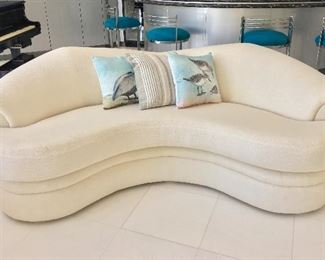 Post Modern White Sofa offered by Susie's Key West Estate Sales
