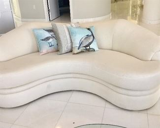 Custom Made White Sofa
