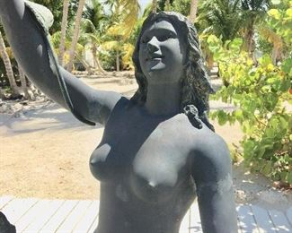 Bronze Dancing Mermaids Fountain Statue offered by Susie's Key West Estate Sales