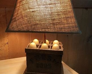 Egg Crate Lamp