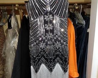 Hand beaded fringed Flapper dress