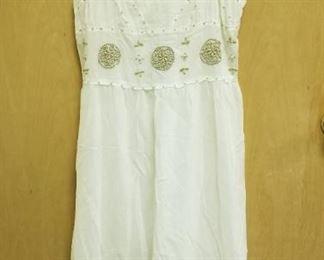 Beautiful hand braded white guaze Sundress