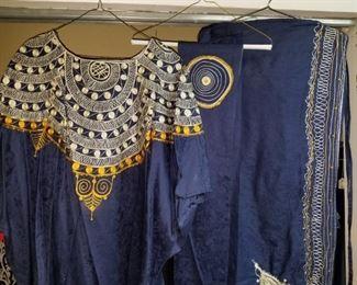 Stunning Ceremonial ? Embroided Kaftan, Sash and Full length Wrap Skirt