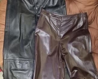 DKNY and ANN Taylor Leather pants