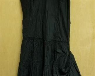 Aqua Crocheted and Guaze 3/4 length Black Sundress
