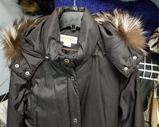 Michael Kors full length Fur Hood Parka Coat