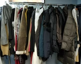 Coats and More coats, this is the sweater and coat room.
