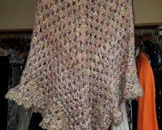Vintage Zara crocheted Poncho