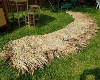 Straw Thatching for Tiki Bar 40 feet, new in box!!