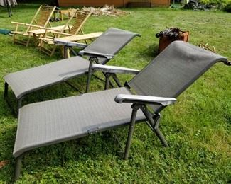 2 Folding Lounge chairs match the Cantilever Patio Umbrella