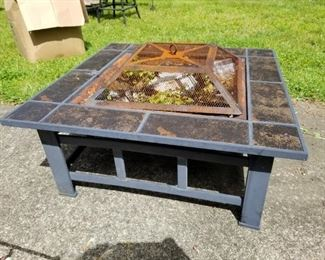 Slate Top Fire Pit