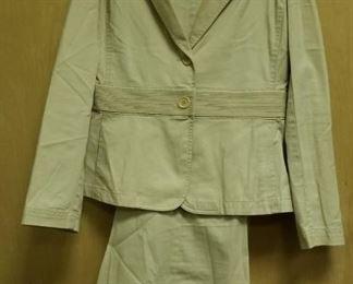 Donna Koran Vintage Safari Jacket and slacks