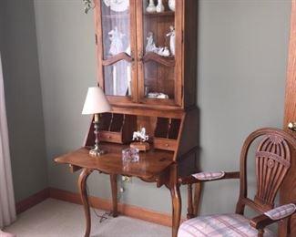 "Ethan Allan Secretary desk.  $269                                               78"" H x 29""W x 16""D with desk closed.   28"" D opened"