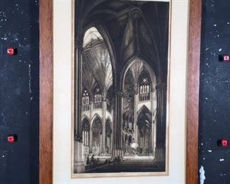 1917 Etching appraised at over $10,000.00
