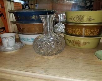 Vintage pyrex casseroles