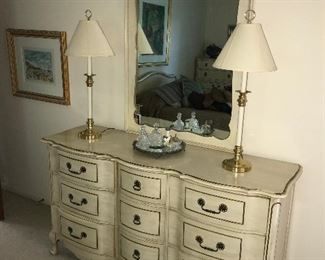 French provincial dresser w/ mirror
