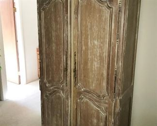 Rustic Distressed Armoire - Wardrobe - TV Cabinet