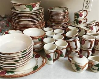 Huge amount of Franciscan Apple dinnerware