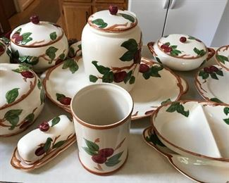 Franciscan Apple cookie jar, 3 soup tureens butter dish and more