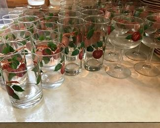 Franciscan apple glasses