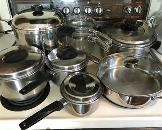 many pots and pans
