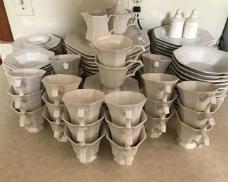 Ironstone china service for 14