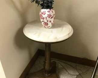 Marble Top Round Accent Table