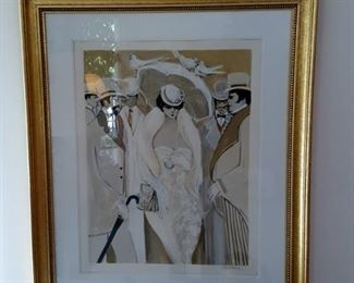 Isaac Maimon Titled: Three Doves serigraph signed & numbered (223/275)