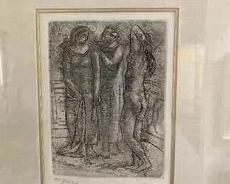 Pablo Picasso Titled: Three Graces, etching. number 407/1500