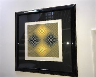 "Victor Vasarely Titled ""Olla"" signed & numbered in pencil"
