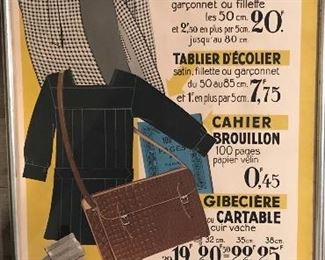 French department store seasonal sale advertisement
