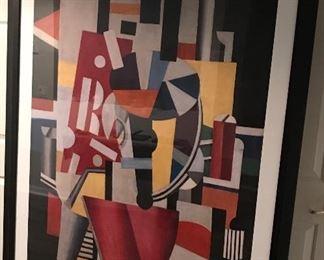 Cubism exhibit. Large framed poster!
