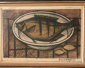 Bernard Buffet 1953 Poisson