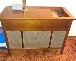 Mid-Century Record Console