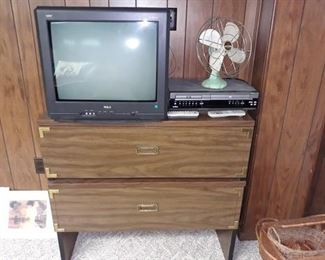 Electronics, Vintage Fan, and Chest