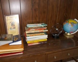 Vintage Children's Books, Desktop Globe, and More