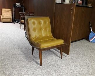 Mid Century Modern Tufted Chair