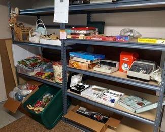Seasonal Decor, Vintage Toys and Electronics