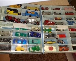 Matchbox Style Cars and Case