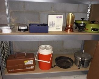 Pots and Pans, Tackle Box, and Other Appliances