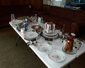 An Array of Tableware and Glassware