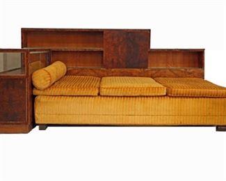 Italian Art Deco, Day Bed-Bookcase, c.1925