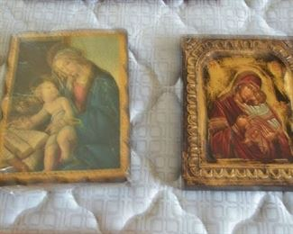 Various religious paintings