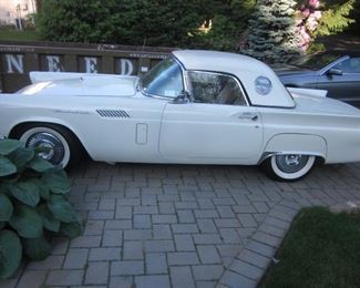 1957 Thunderbird T-Bird Re-Built Engine 40,000 miles 2 Tops, Hard and Soft, 312 V8 4 Barrel Carburater, Older Restoration.  Has 70,000 original miles but with rebuilt engine, 10,00 miles.