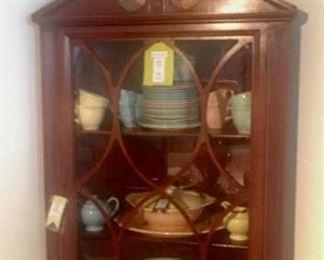 Universal Cambridge dishes and corner cabinet